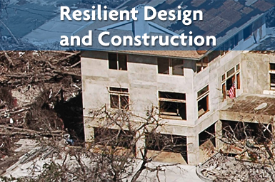 Resilient Design and Construction - Concrete Building standing in destruction